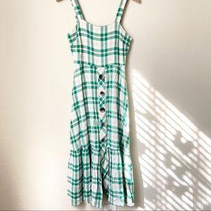 Zara Women Checkered Dress with Buttons